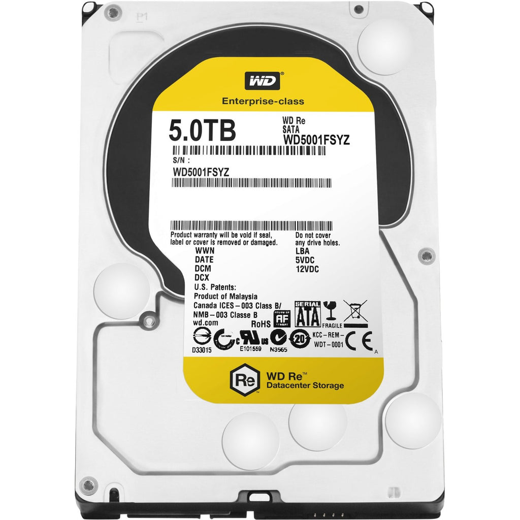 "WD Re 3.5"", 5TB, SATA3, 6Gb/s, 7200RPM, CACHE 128MB, 512E  WD5001FSYZ"