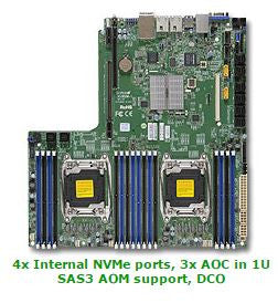 Supermicro X10DDW-IN-O Dual LGA2011| C612| SATA3&USB3.0| V&2GbE| Proprietary WIO Server Motherboard
