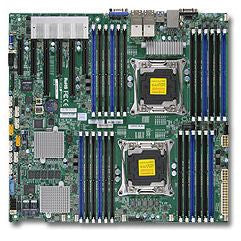 Supermicro X10DRC-T4+  Dual LGA2011| C612| SATA3&SAS3&USB3.0| V&4GbE| Enhanced EATX Server Motherboard