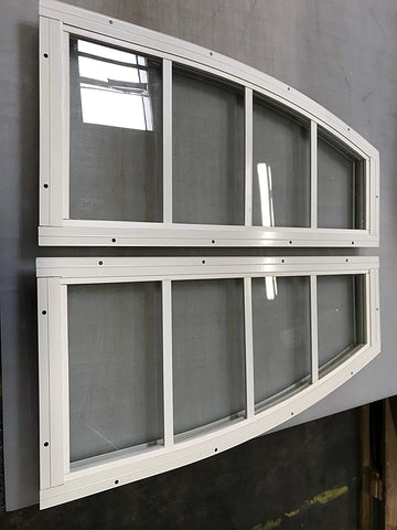 ARCH TOP 10X23 RIGHT/LEFT WHITE SHED PLAYHOUSE WINDOW