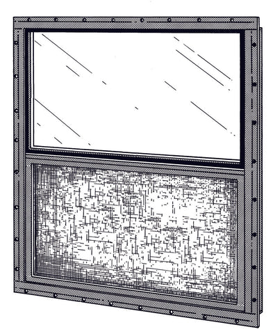 "30"" W x 21"" H  SHED WINDOW  - MILL FINISH"