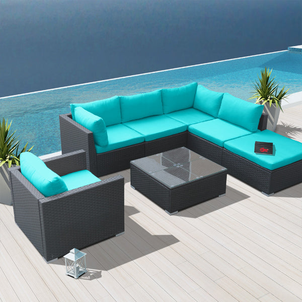 Gentil Modenzi 7H MODULAR PATIO FURNITURE SECTIONAL (UNASSEMBLED)