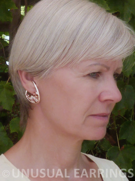 Napa -brown and clear crystal with dangle