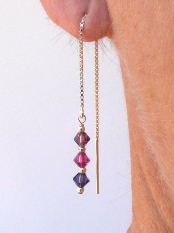 Pink/Purple Swarovski crystal