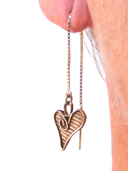 Sterling Silver Threader Whimsical Heart