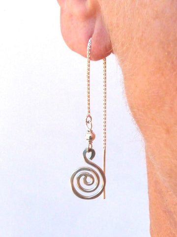 Sterling Silver Swirl threader