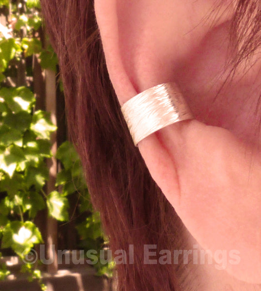 Santee - Sterling Silver Hammered ear cuff
