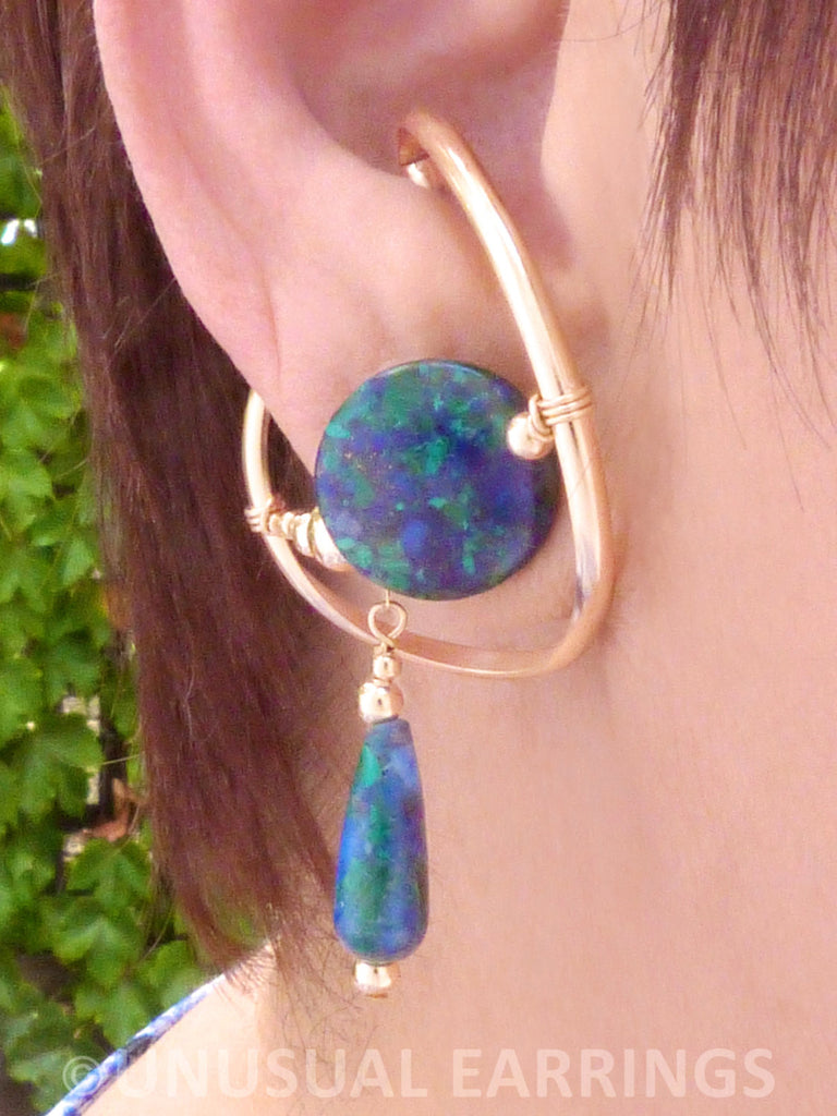 Berryessa - Azurite/Malachite in Gold Filled
