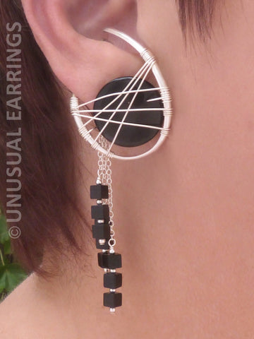 Sierra - Sterling Silver & Black Onyx with dangle