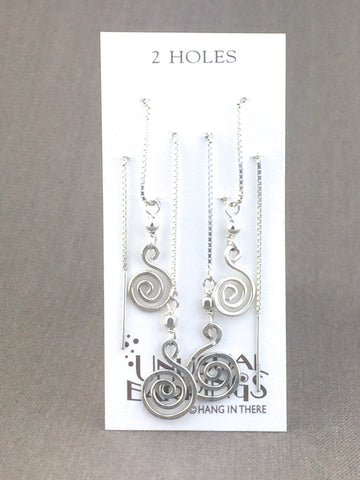 spiral sterling silver threaders