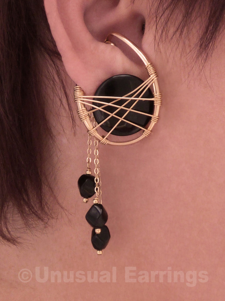 Sierra - Gold Filled & Black Onyx with dangle