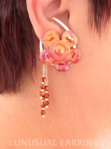 Gaviota - Copper Flower with dangle