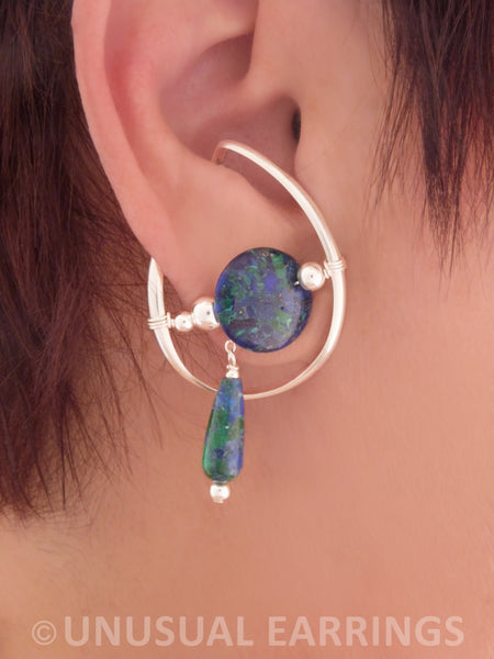 Berryessa - Azurite/Malachite in Sterling Silver