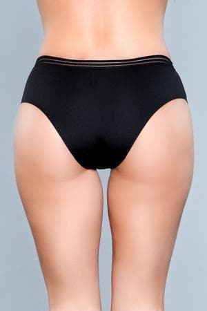 Be Wicked Roxy 1848 Black Seamless Panty