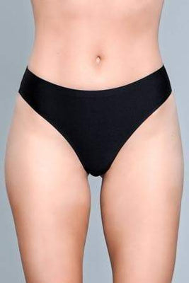 Be Wicked Roxy 1850 Black Seamless Thong front