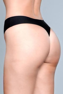 Be Wicked Roxy 1850 Black Seamless Thong