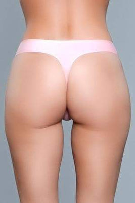 Be Wicked Roxy 1850 Pink Seamless Thong back