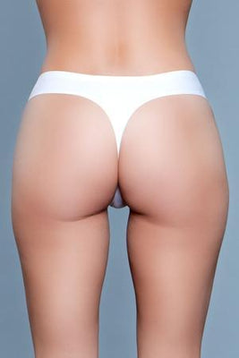 Be Wicked Roxy 1850 White Seamless Thong