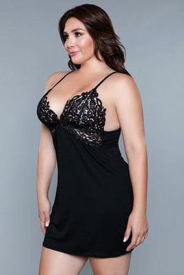 Be Wicked 1853 Black Wendy Chemise