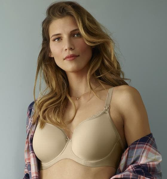 Panache 9081 Eleanor Latte Moulded Spacer UW Nursing Bra