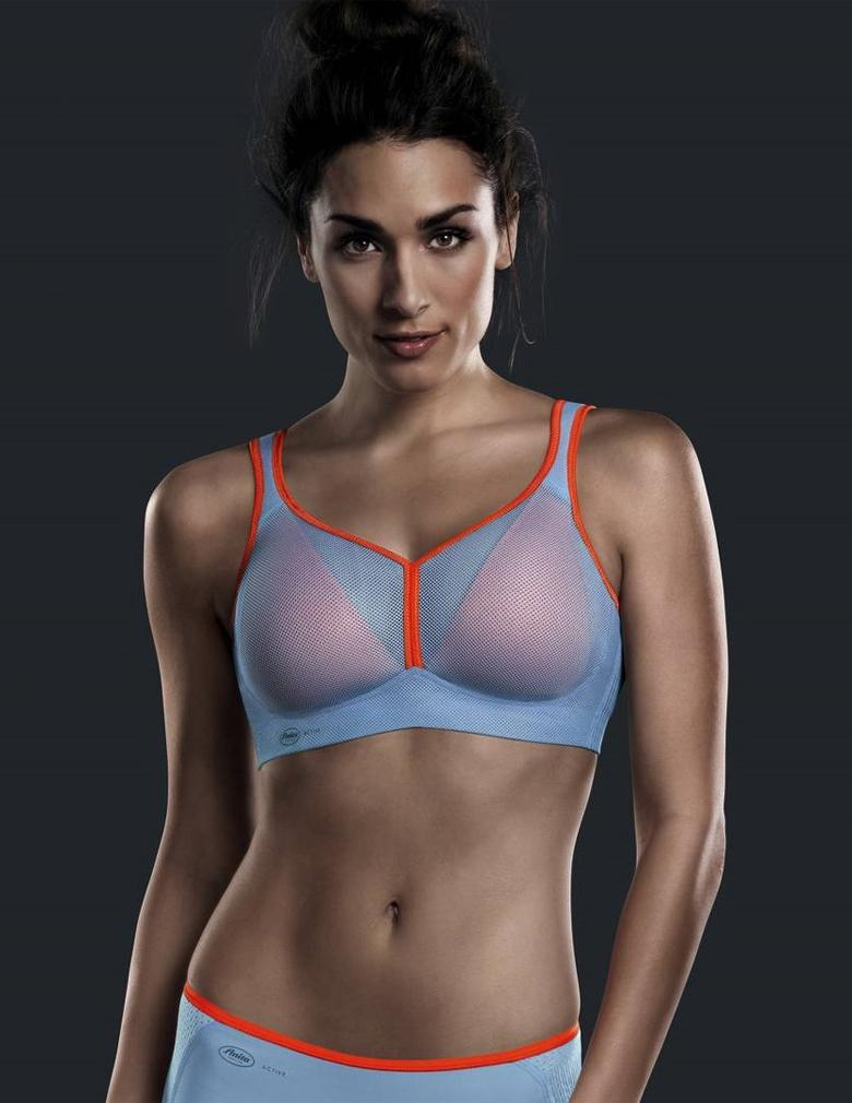 Anita 5544 Blue/Orange Air Control Padded  Maximum Support Sports Bra