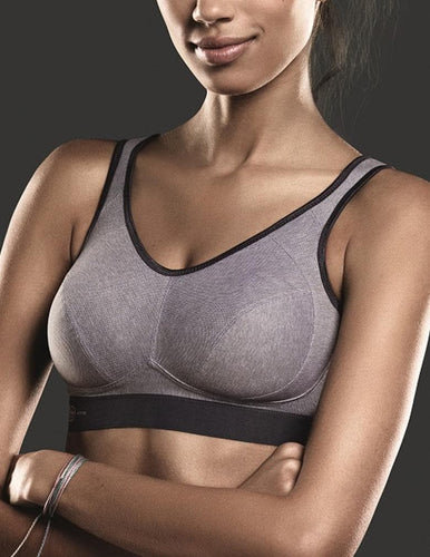 Anita Extreme Control 5527 Heather Grey Sports Bra