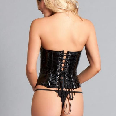 Be Wicked BW1245 Black Vinyl Corset