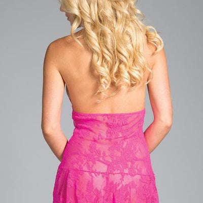 Be Wicked BW1630 Hot Pink Taylor Floral Lace Babydoll