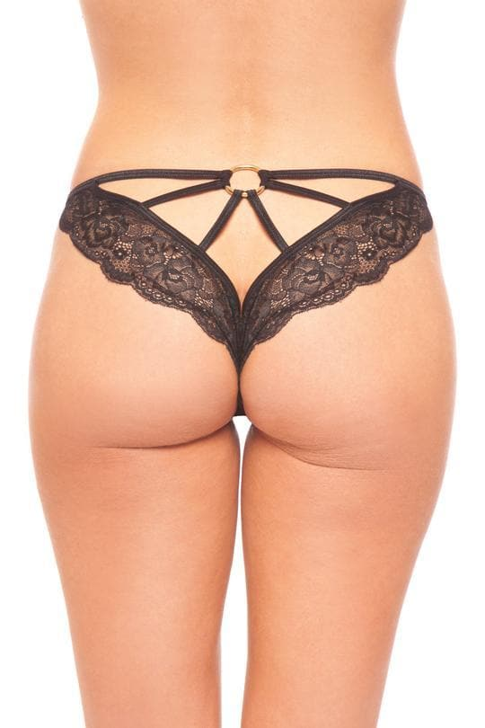 Be Wicked BW1708BK Put A Ring On It Panty
