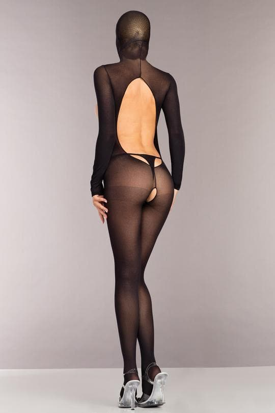 Be Wicked BWB101 Black Bodystocking