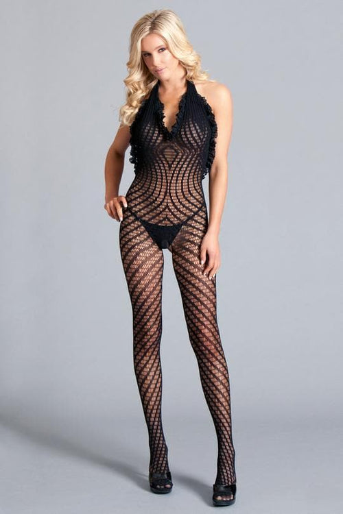 Be Wicked BWB109 Crotchless Halter Bodystocking