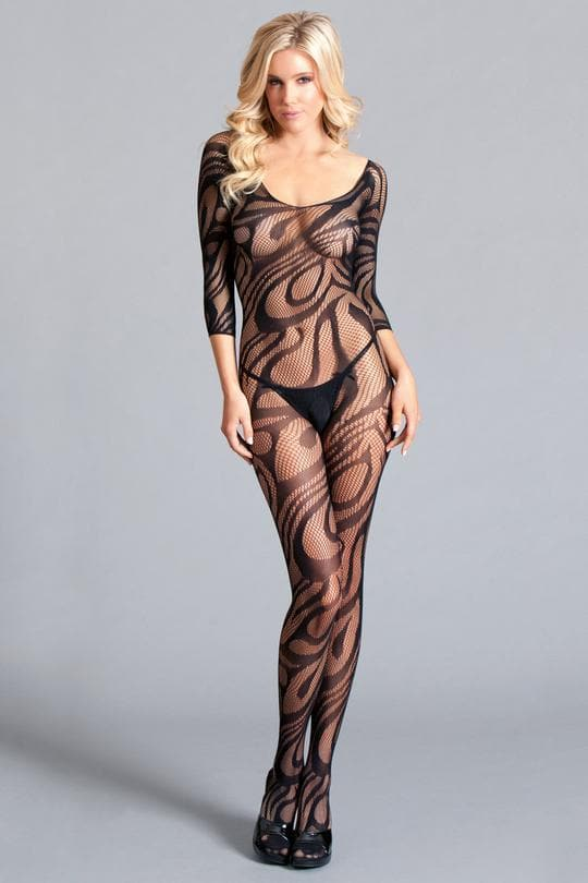 BE Wicked Bodystocking crotchless queen plus size lace