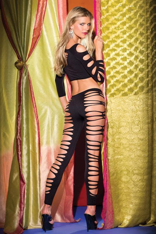 Be Wicked BWB64 Black Body Stocking