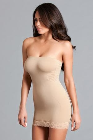 Be Wicked BWY18 Nude Ultra Light Strapless Dress Shaper