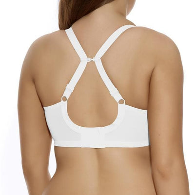 Elomi  Energise EL8041 White Underwire Sports Bra back converter back