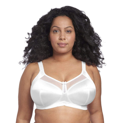 Goddess Keira GD6093 White Banded Soft Cup Wire Free Bra
