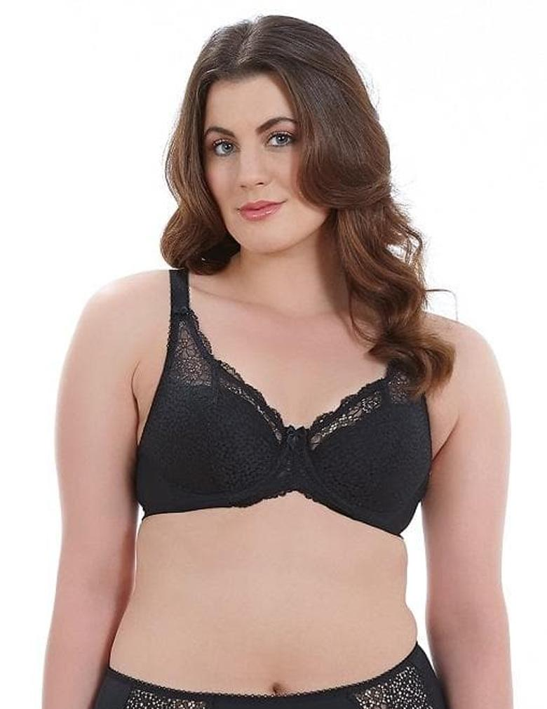 Goddess Michelle GD5000 Black Underwire Padded Banded Bra
