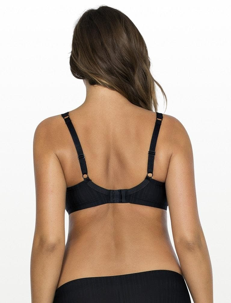 Parfait Aline T-Shirt Bra P5251 Black pin stripe back