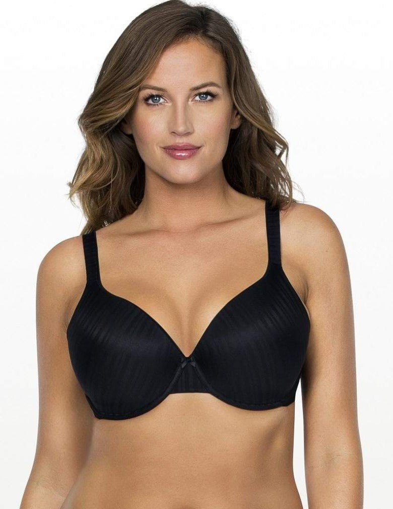 Parfait Aline T-Shirt Bra P5251 Black underwire large busted t-shirt bra