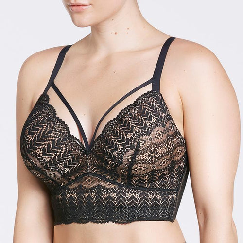 Parfait P5951 Mia Lace Black Wire-free Padded Lace Bralette