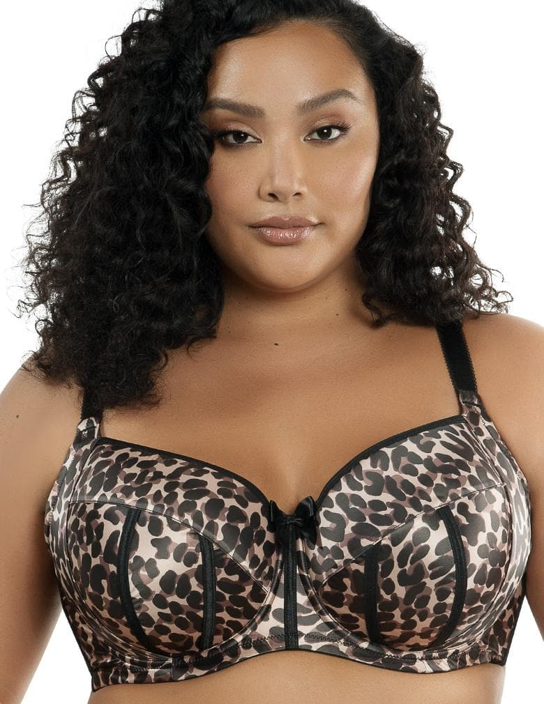 Parfait Charlotte 6901 Leopard Brown Balconette Padded Push up Bra