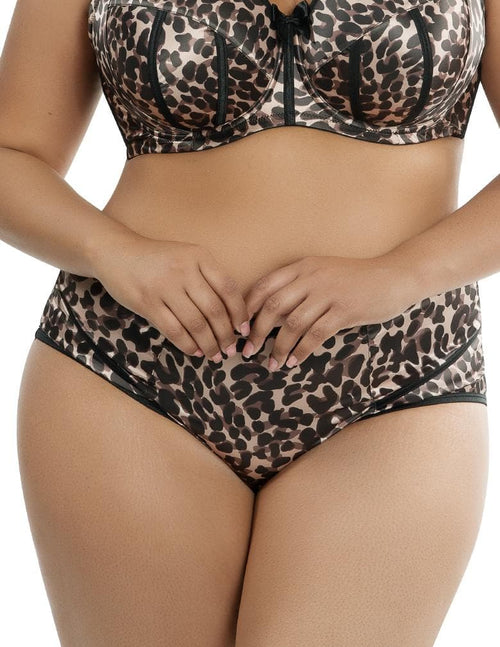 Parfait Charlotte Leopard Brown 6917 High Waisted Brief