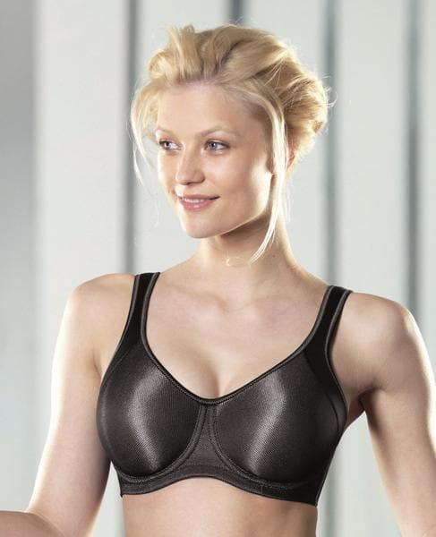 Anita Momentum 5519 Metallic Black Underwire Sports Bra