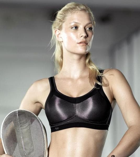Anita Momentum 5529 Metallic Black Maximum Support Sports Bra