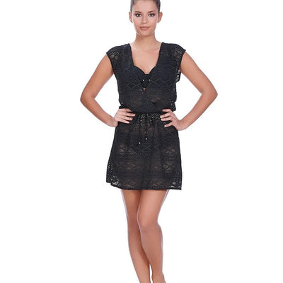 Freya AS3978 Sundance Black Cross Over Dress Swim Cover Up