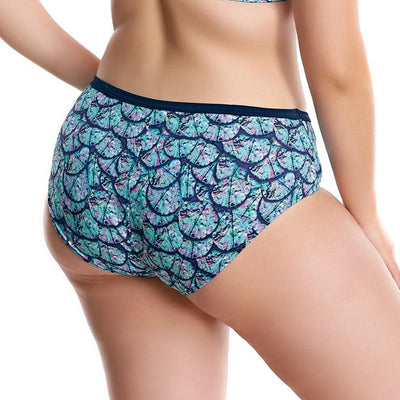 Elomi Swim Abalone ES7083 Midnight Mid Rise Brief Swimwear