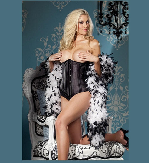 Be Wicked BW1264 Black Busk-Front Waist Cincher