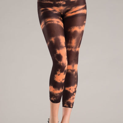 Be Wicked BW735 Orange Tie Dye Footless Pantyhose