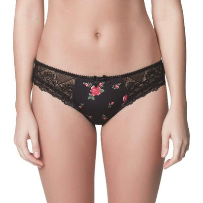 Parfait Casey 2803 Black Rose Print Brief