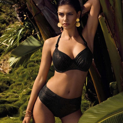 Fantasie ST Barts FS6178 Bronze UW Gathered Halter Full Cup Swim Bikini Top